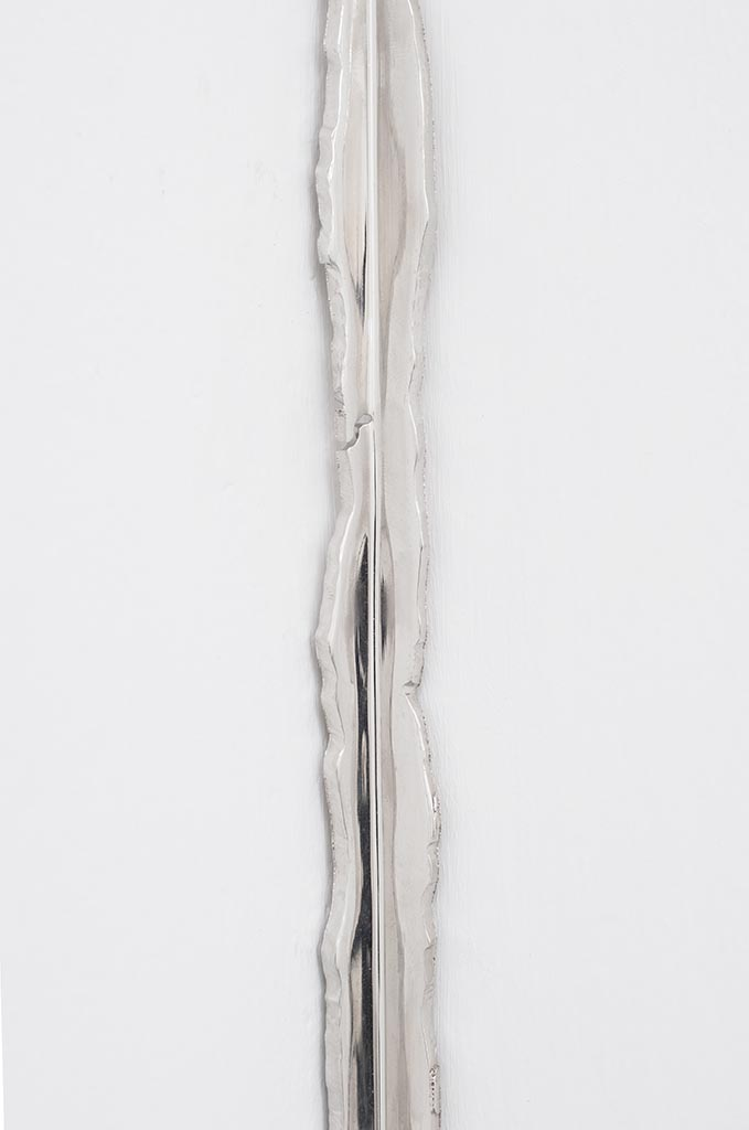 Esquina (detail), Nickel plated mirror polished steel, 134