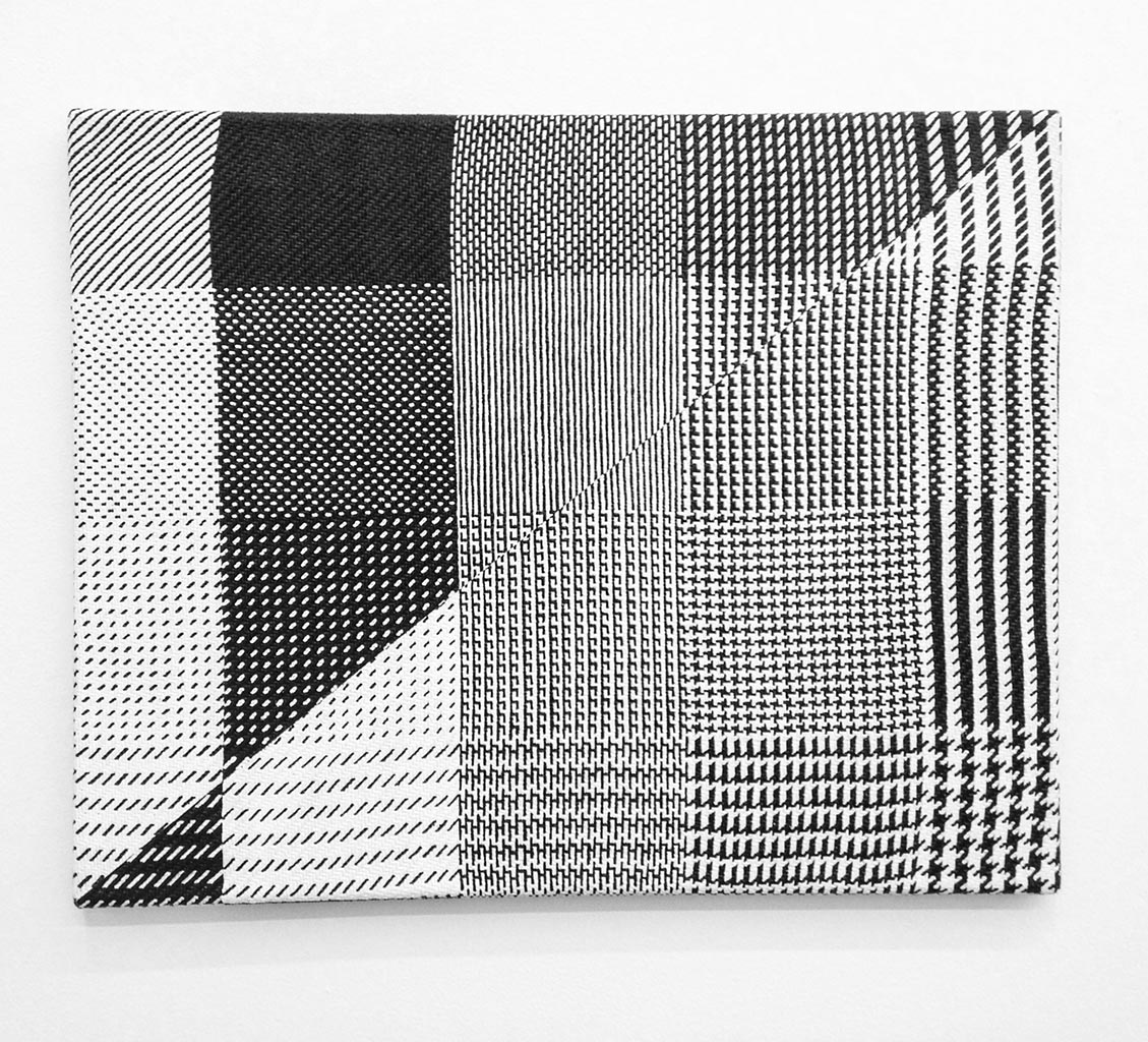 Samantha Bittman, Sample Blanket #1, 2014, Acrylic on hand-woven textile