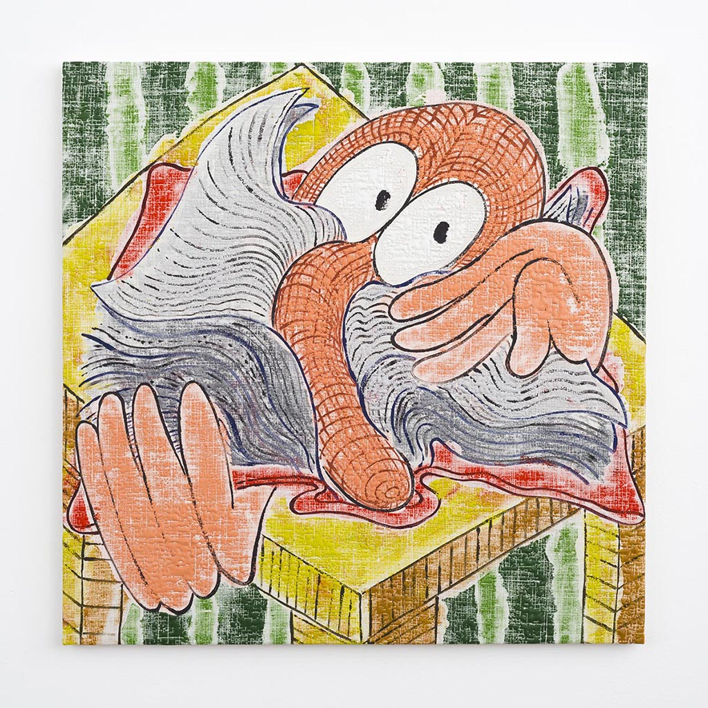 Poor Richard's Dictionary: Squirm, 2015, Acrylic on bleached linen, 24