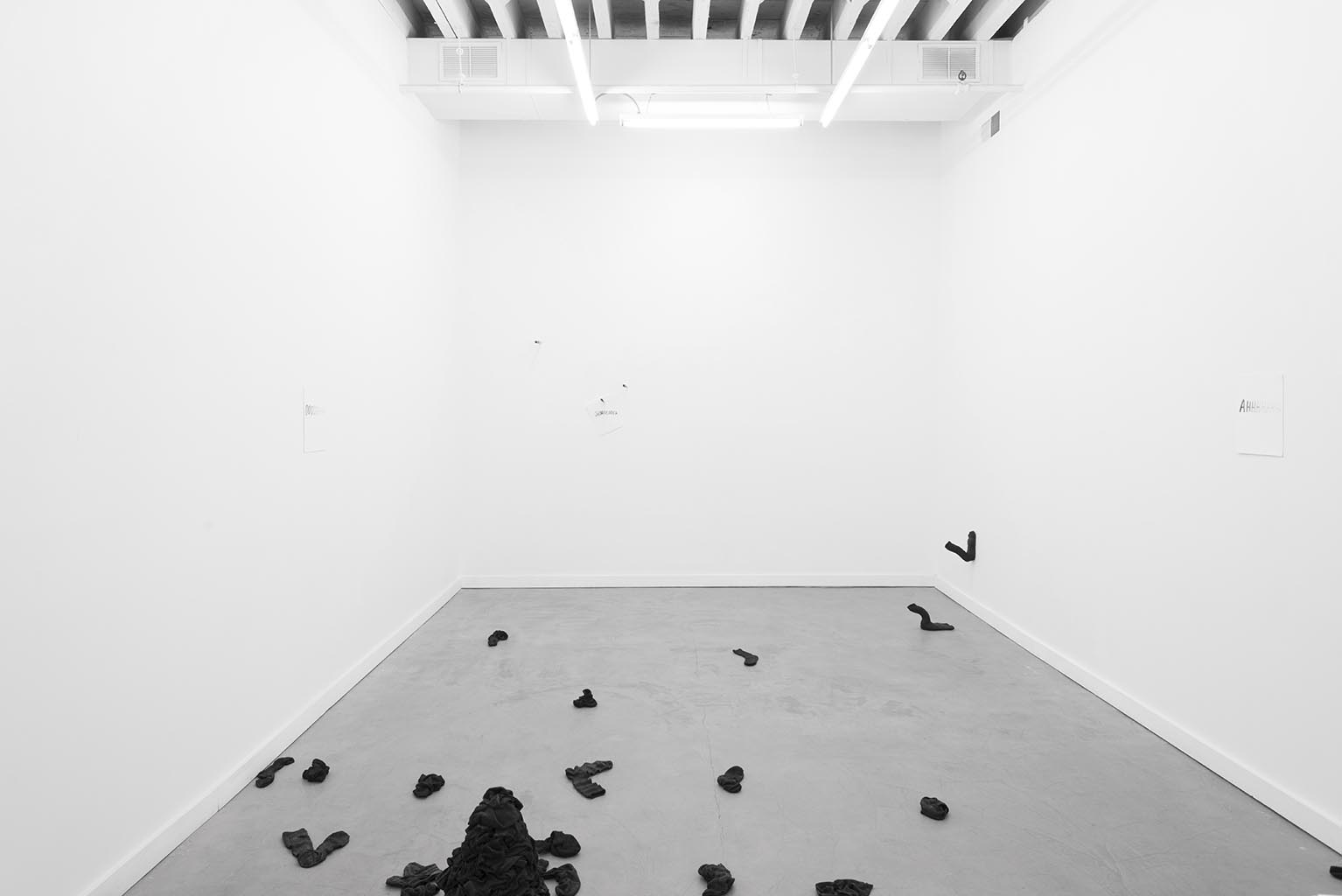 Installation view, Lauren Taylor, Baby's on Fire