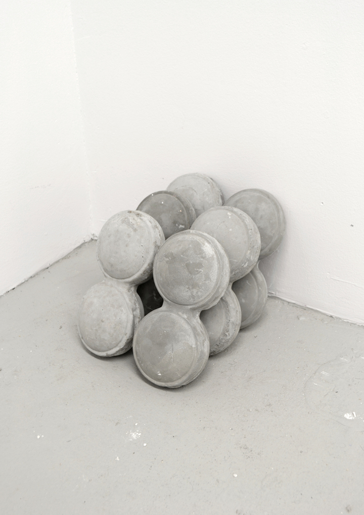 Cupped (A), 2016, cement, 12 x 13 x 12 inches