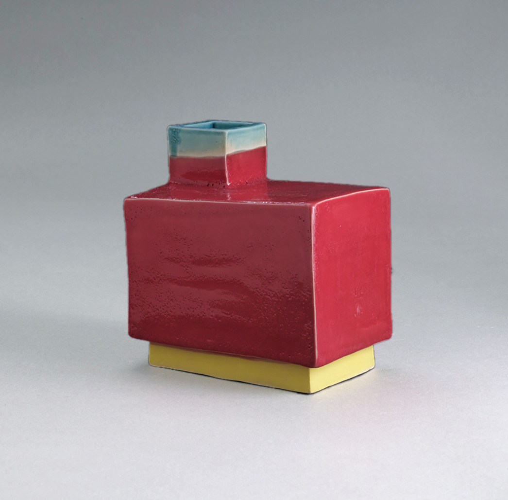 Untitled, 2019, glazed stoneware, 4 x 6 x 6 inches